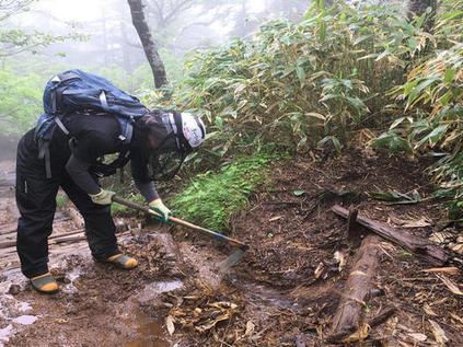 御嶽山登山道整備