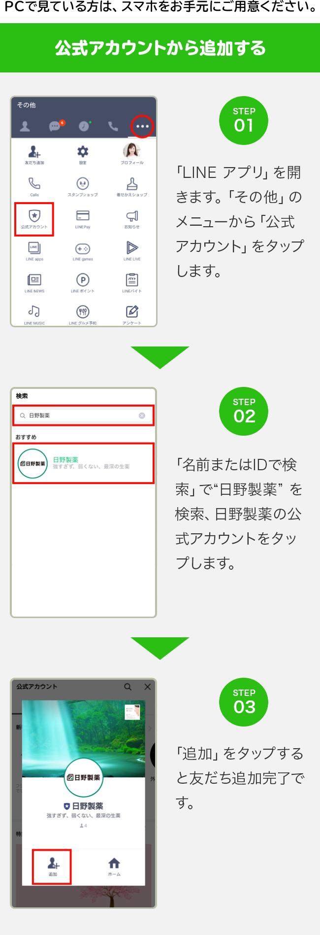 LINE@の登録方法 公式アカウントから追加する